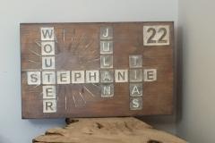 Graveren in hout - Naambord met lettervlakken