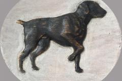 Hond-houten-bord