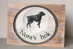 Houten-naambord-hond